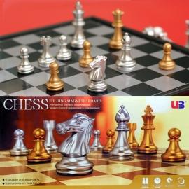 UB友邦金銀色 折疊磁性 國際象棋