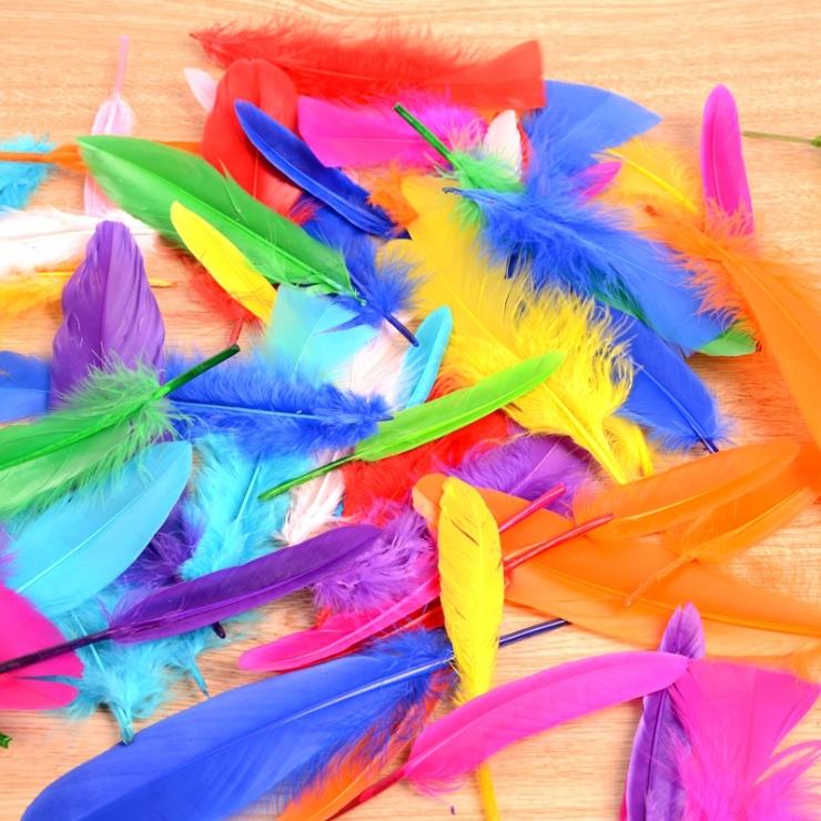 手工彩色羽毛diy裝飾飾品