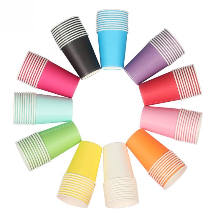 彩色一次性紙杯10個