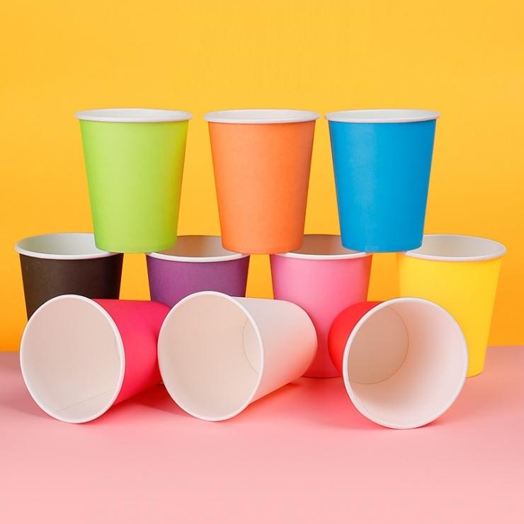 加厚彩色紙杯混裝