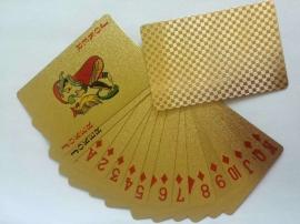 金色歐版金箔撲克
