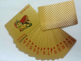 金色格子版金箔撲克