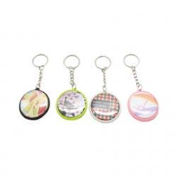 One Side Plastic Transparent Keychain 單面塑料鑰匙扣